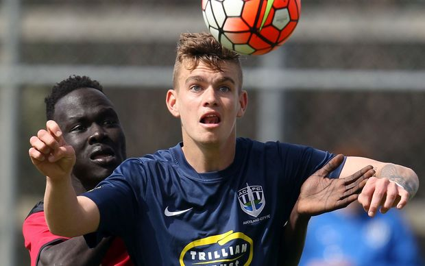 Myer Bevan in action for Auckland City, 2015.