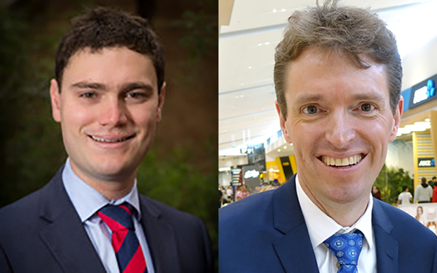 Jordan Williams (left) and Colin Craig