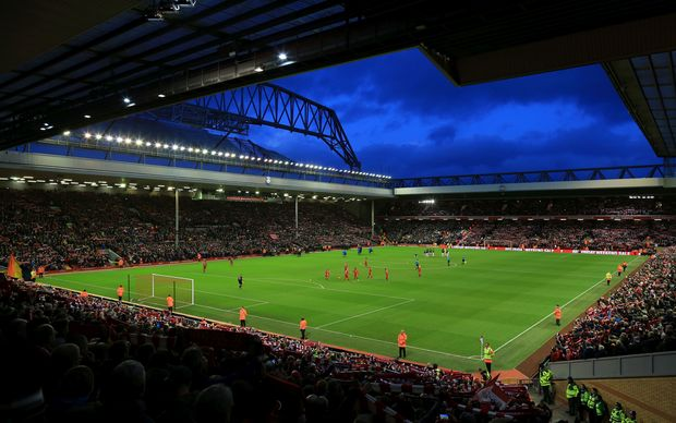 Liverpool Football Club ground Anfield.