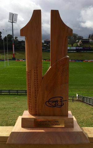 Wellington and Counties Manukau will contest the number 11 Jonah Lomu Memorial Trophy each time they play one another.