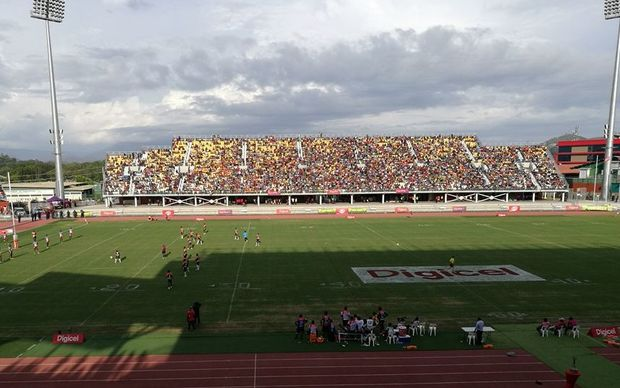 Sir John Guise Stadium during the Digicel Cup grand final between Lae Snax Tigers and Rabaul Agmark Gurias.