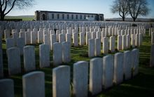 War graves at Caterpillar Valley Cemetery, near Longueval, France.