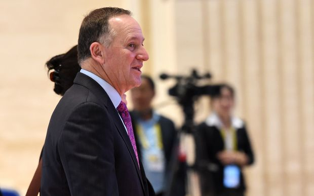 John Key arrives for a meeting at the East Asia Summit in Laos
