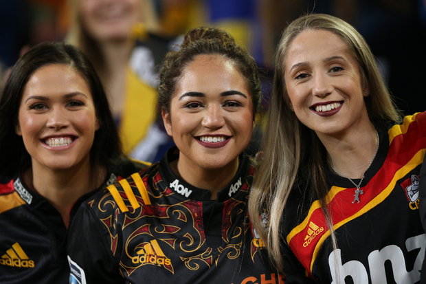 Chiefs supporters ahead of the Super Rugby match between the Highlanders and Chiefs, Dunedin, 16 July  2016.