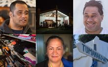 Montage of volunteers and the marae