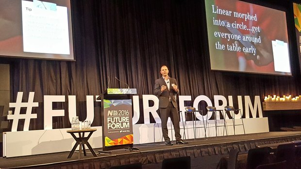 Jared Savage at the Future Forum 2016 in Sydney.