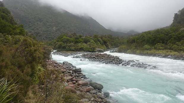 Wilkinson River - confluence with Whitcombe River, New Zealand.