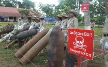 Two million tonnes of bombs were dropped on Laos during the Vietnam War.