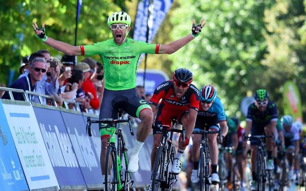 Jack Bauer wins the fifth stage of the Tour of Britain.