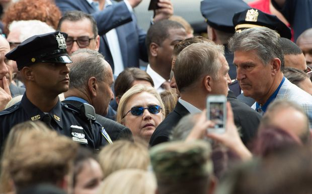 Democratic presidential nominee former Secretary of State Hillary Clinton at the September 11 Commemoration Ceremony in New York City.