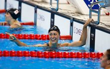 Sophie Pascoe celebrates winning gold in the women's 200m individual medley SM10.