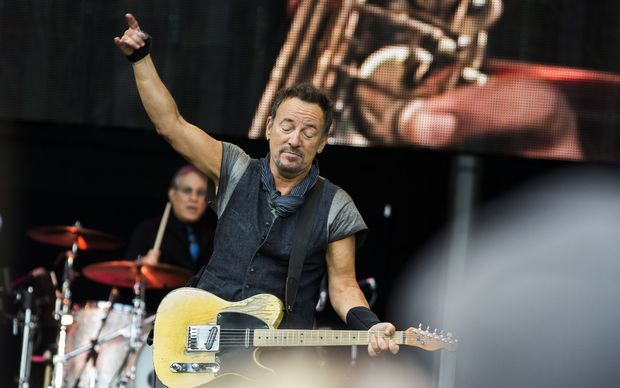 Bruce Springsteen performing with the E Street Band in Norway in August 2016.