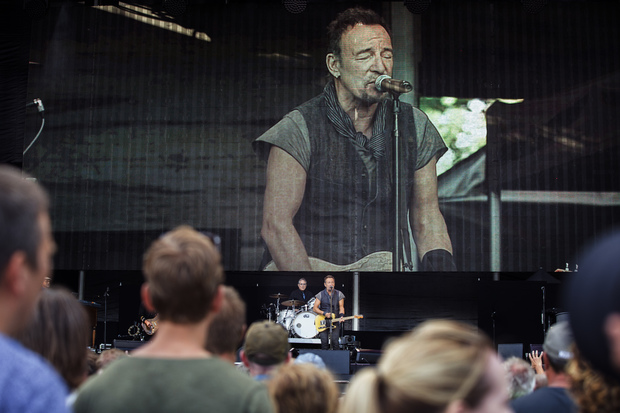 Bruce Springsteen performing with the E Street Band in Norway last month.