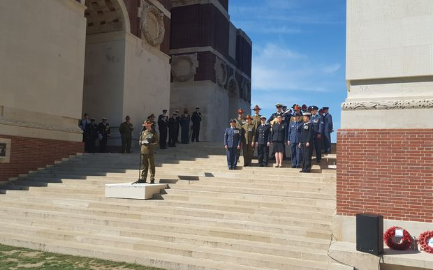 The NZDF took the lead at one of the daily memorial services at the Somme memorial this week.