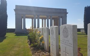 War graves at the Caterpillar Valley cemetery.