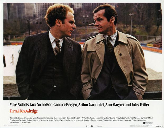 Art Garfunkel and Jack Nicholson in Carnal Knowledge.