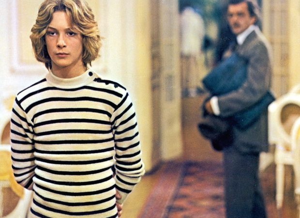 Björn Andrésen and a distant Dirk Bogarde in Visconti's adaptation of Thomas Mann's Death in Venice