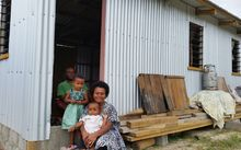 Maraia Waqa is all smiles with a new home in Namuaimada.