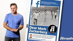 Espen Egil Hansen and his front-page open letter to Facebook's Mark Zuckerberg.
