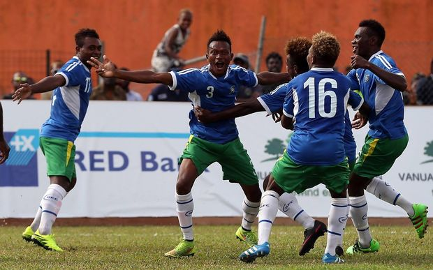 Joe Gise's goal gave Solomon Islands the early lead.