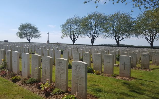 The Caterpillar Valley Cemetery near Longueval.