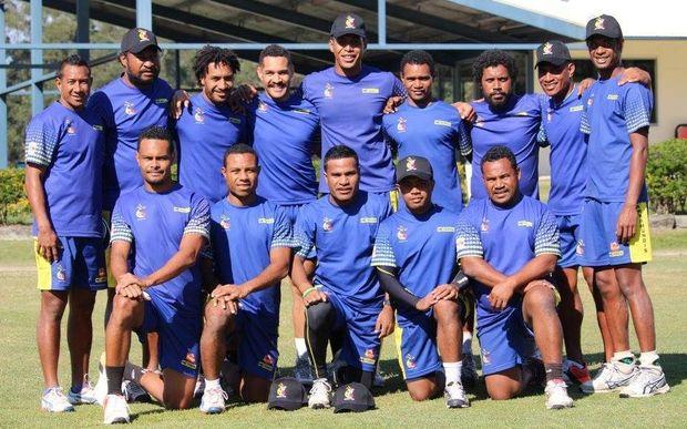 The PNG Barramundis in training.