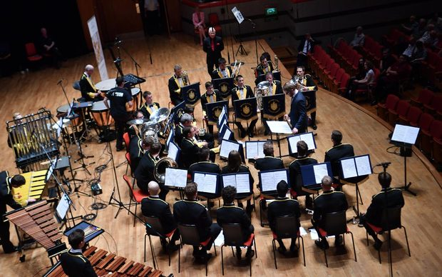 Wellington Brass Band competing at the 164th British Open in Birmingham at Symphony Hal