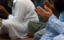Pakistani muslim pray