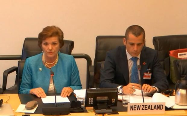 Anne Tolley speaks at the United Nations Committee on the Rights of the Child about children in New Zealand.