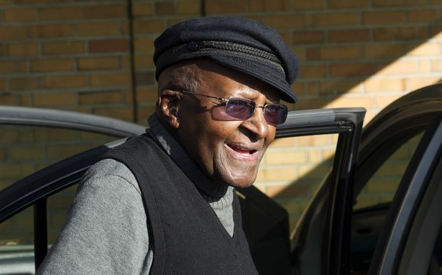 South African anti-apartheid activist and Nobel Peace Laureate Archbishop Desmond Tutu