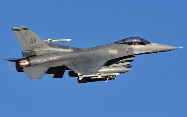 A United States F16 plane