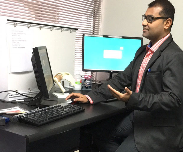 One of the doctors manning the online service is Dr Afraz Adam who is based in Auckland.