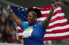 American shot putter Michelle Carter after beating Valerie Adams to Olympic gold in Rio.