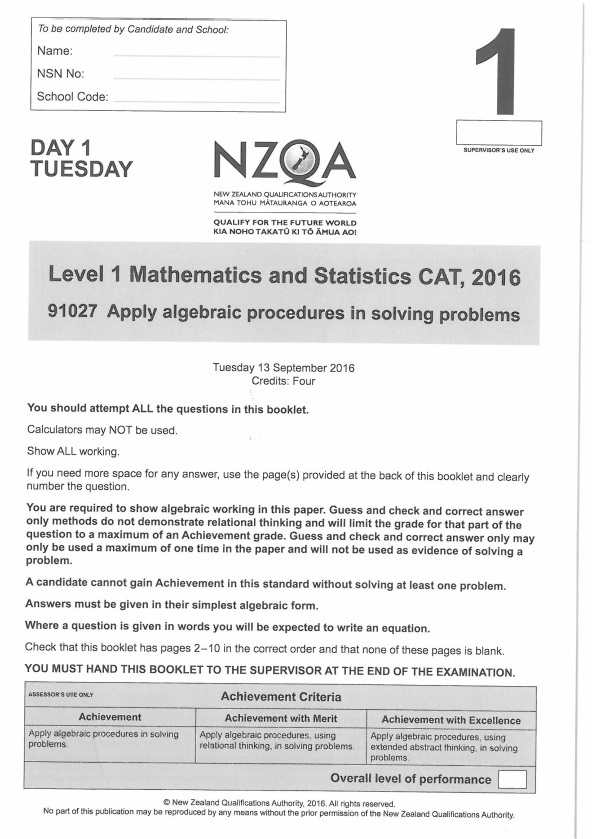 Difficult maths exam 'killed the confidence' of teens   RNZ News