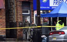 FBI officers searched the family restaurant and apartment of Ahmad Khan Rahami in Elizabeth, New Jersey, on 19 September 2016. .