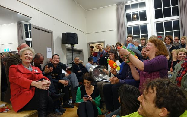 Timekeepers at the Aro Valley meeting had water pistols - and weren't afraid to use them.