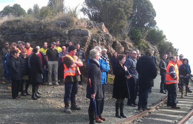 West Coast residents turned out for the minister's announcement on Thursday.