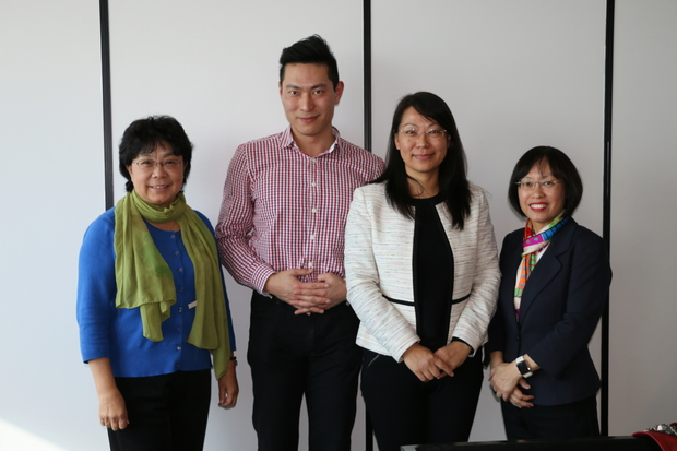 Working together, Dr Xiaoying Fu, Howie Yin, Susan Zhu, Stella Chan