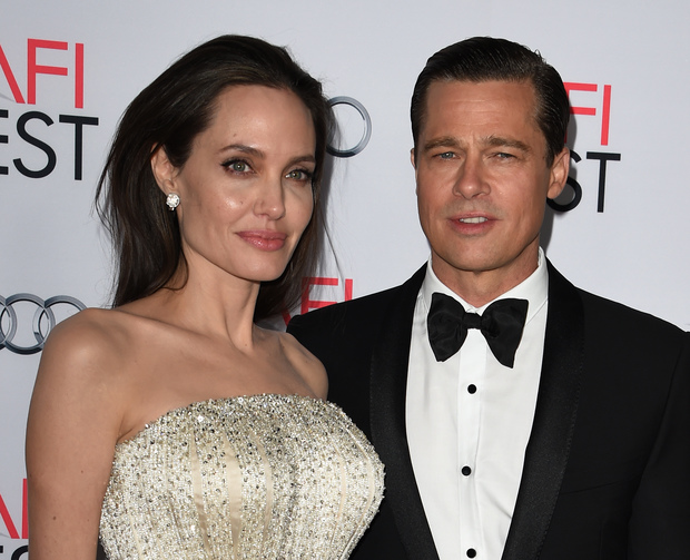 Angelina Jolie and Brad Pitt at a Hollywood premiere in November 2015.