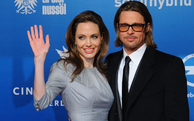 Angelina Jolie and Brad Pitt at a charity event Cinema for Peace, Berlin, 2012.
