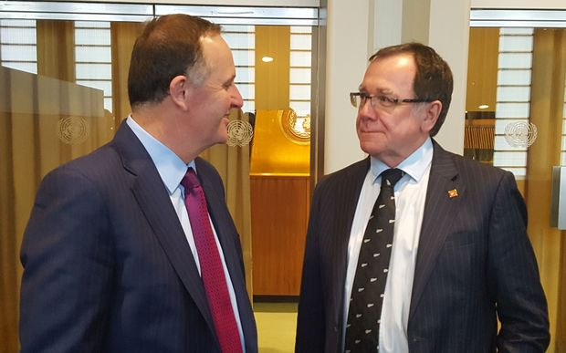 Prime Minister John Key and Foreign Minister Murray McCully at the UN in New York.