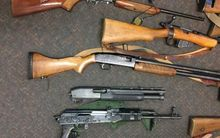 Part of the weapons cache found at a rural Marlborough property.