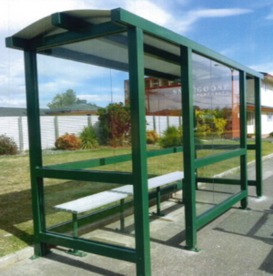 The bus shelter, which was similar to this model, was taken sometime since June.