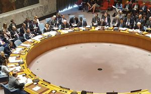 Foreign Affairs Minister Murray McCully chairs a meeting of the UN Security Council.