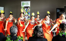 Auckland Girls' Grammar School Samoan group performs Samoan item at Pacific Employment Support Services celebration event.