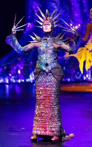 The designer Gillian Saunders has for the first time been named the Supreme Award Winner of the World of Wearable Art competition with her design 'Supernova'.