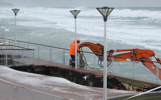 Council staff are trying to prevent more erosion.
