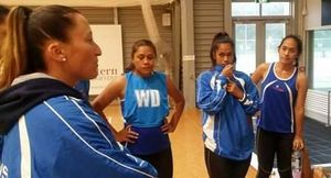 The Samoa Under 21 netball team trains ahead of the Oceania World Youth Cup Qualifiers in Auckland.