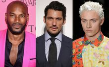 Models (from left) Tyson Beckford, David Gandy and Lucky Blue smith.