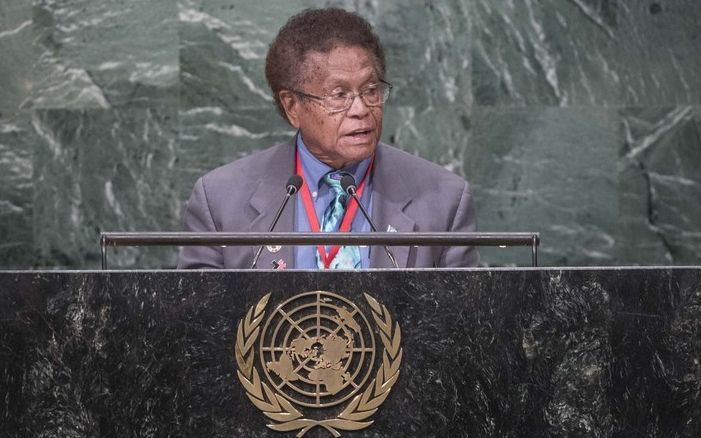 Palau's Representative to the UN, Caleb Otto